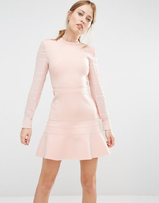 vestidos cortos de manga larga