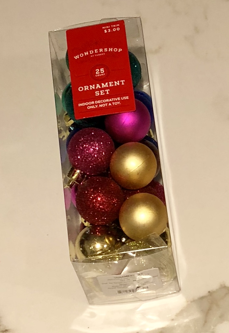 Target mini ornaments