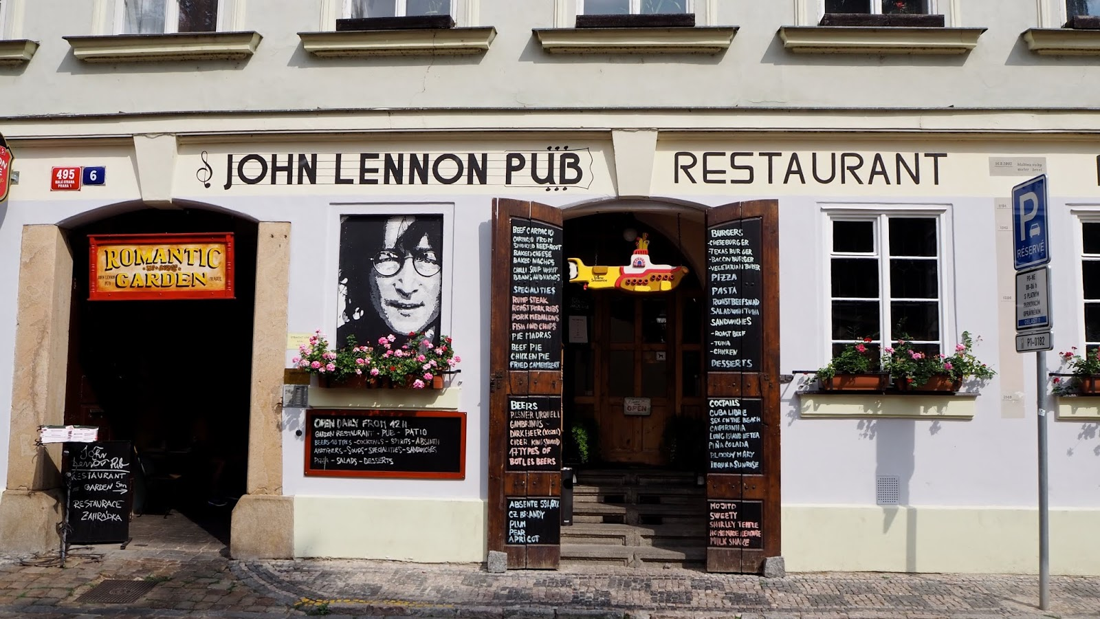 John Lennon Pub and Restaurant in Prague