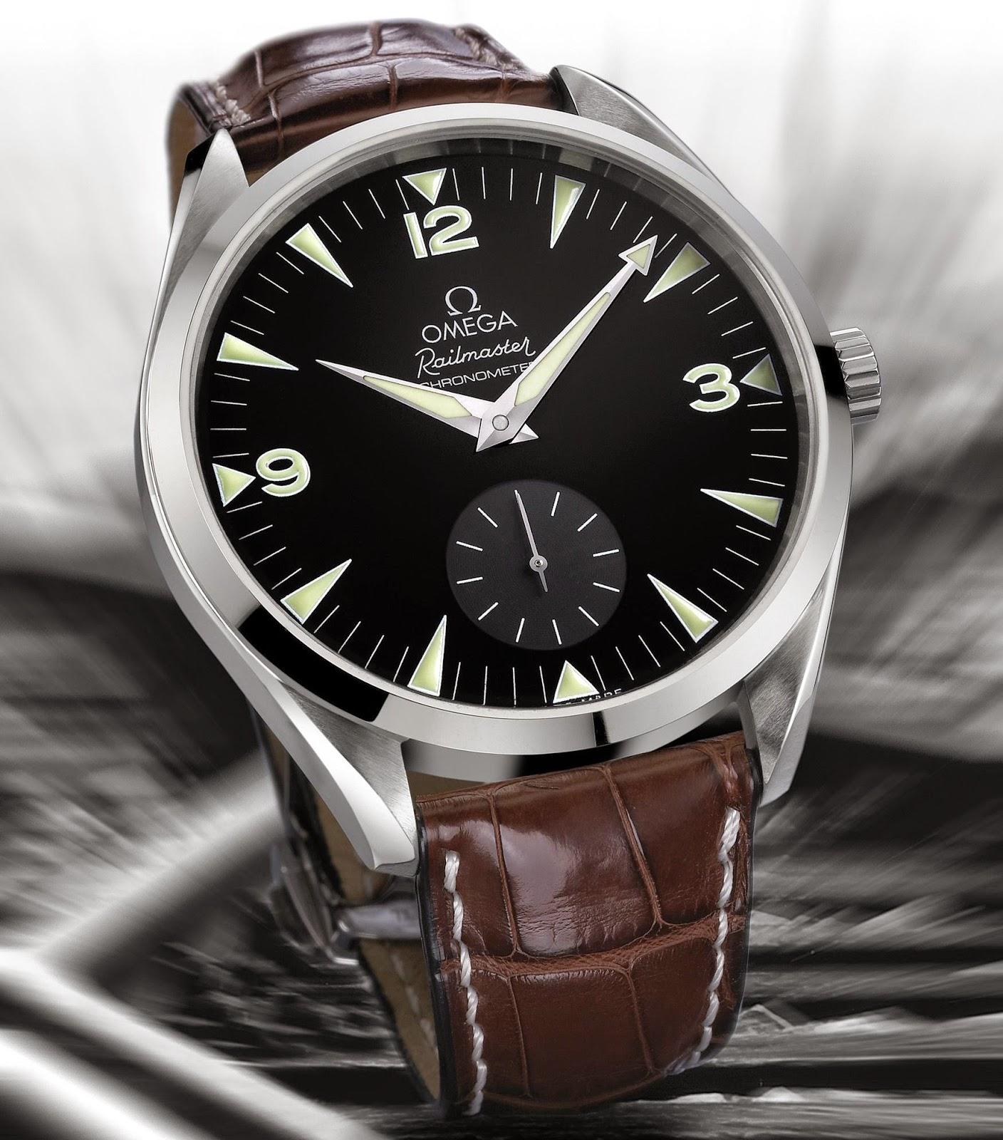 OMEGA Railmaster 49.2mm manual wound watch