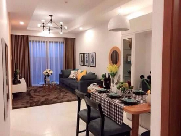nội thất phòng khách chung cư the two residences