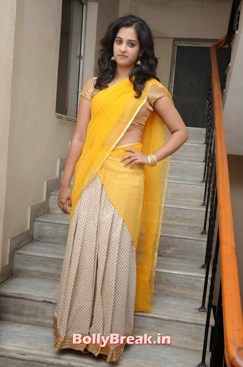 , Nanditha Hd Photo Gallery in Saree