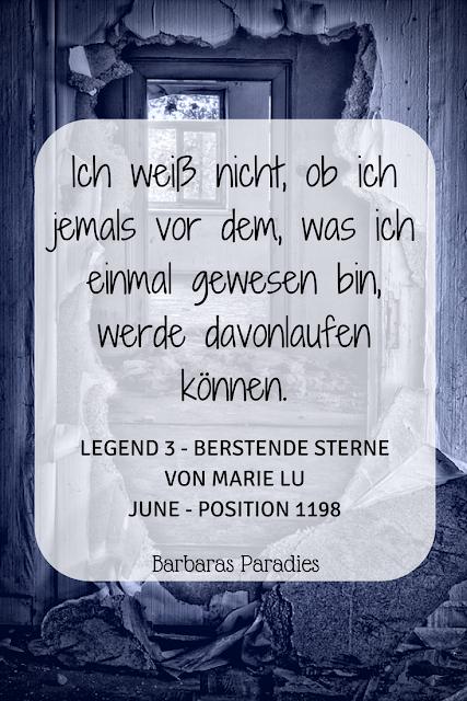 Buchrezension #182 Legend 3 - Berstende Sterne von Marie Lu