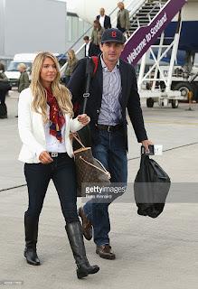 Keegan with his wife Jillian at the Edinburgh Airport