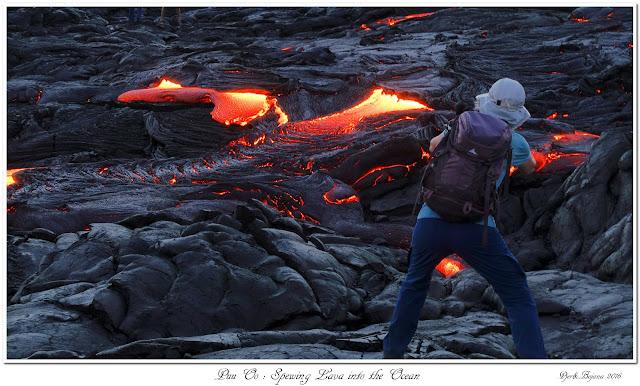 Puu Oo: Spewing Lava into the Ocean