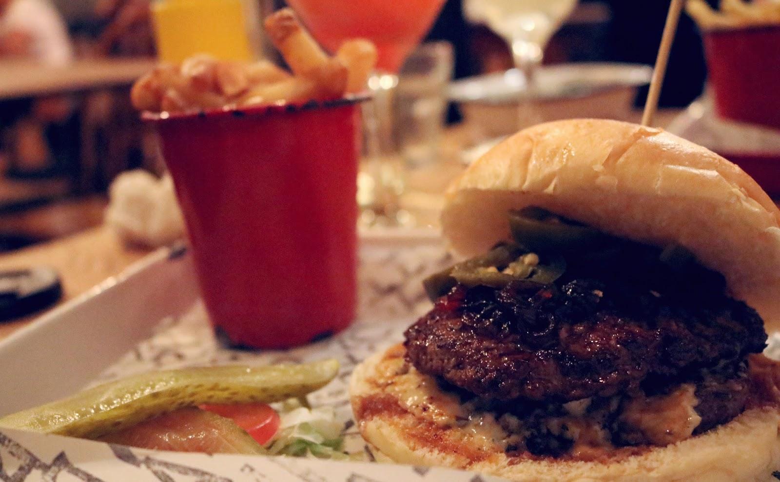 Stinky Pete Burger at Fat Hippo Underground