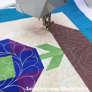 Machine Quilting Block Party | Flower Festival Quilt