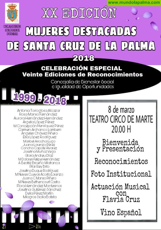 XX Mujeres Destacadas de Santa Cruz de La Palma