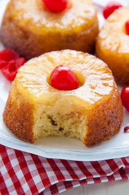 http://bakerbynature.com/mini-pineapple-upside-down-cakes/