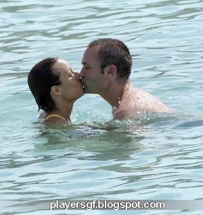 Andre Iniesta and his girlfriend Anna Ortiz