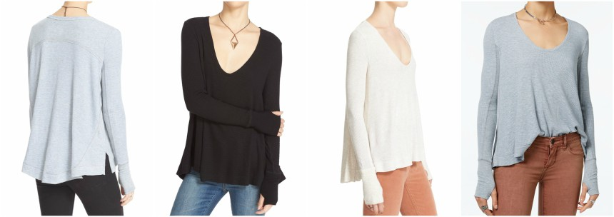 Free People Malibu High-Low Thermal Tops for only $28 (reg $68)