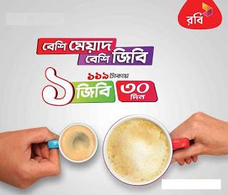 1GB Internet Robi Sim Offer By 119 TK