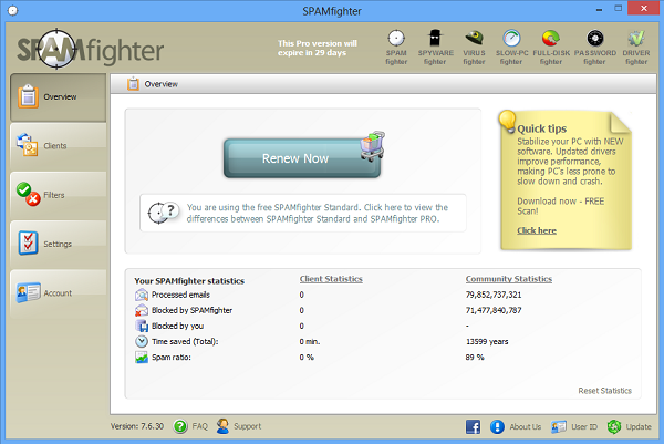 Download Free SPAMfighter