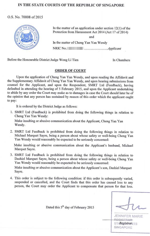 Vigilante\u0027 Group SMRT Ltd (Feedback) Slapped With Court Order For
