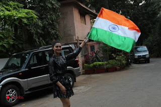 Bollywood Actress Model Urvashi Rautela Stills in Black Dress at Republic Day Celebrations  0012.jpg