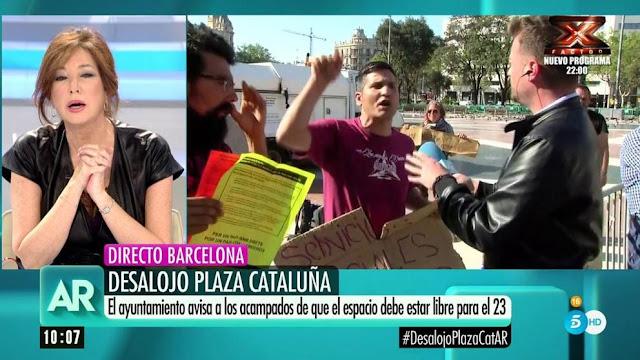"""Activista llama """"fascista, manipuladora y ricachona"""" a Ana Rosa en Directo"""