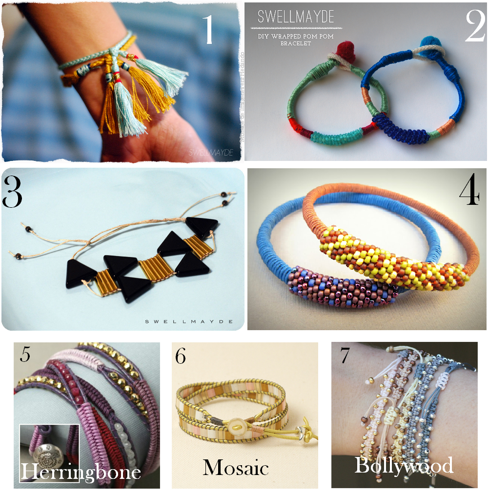 pulseras, bracelet, diys, bisutería, manualidades