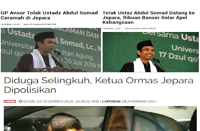 Penolak Pengajian UAS Diduga Selingkuh! Netizen: Daging Ulama Beracun