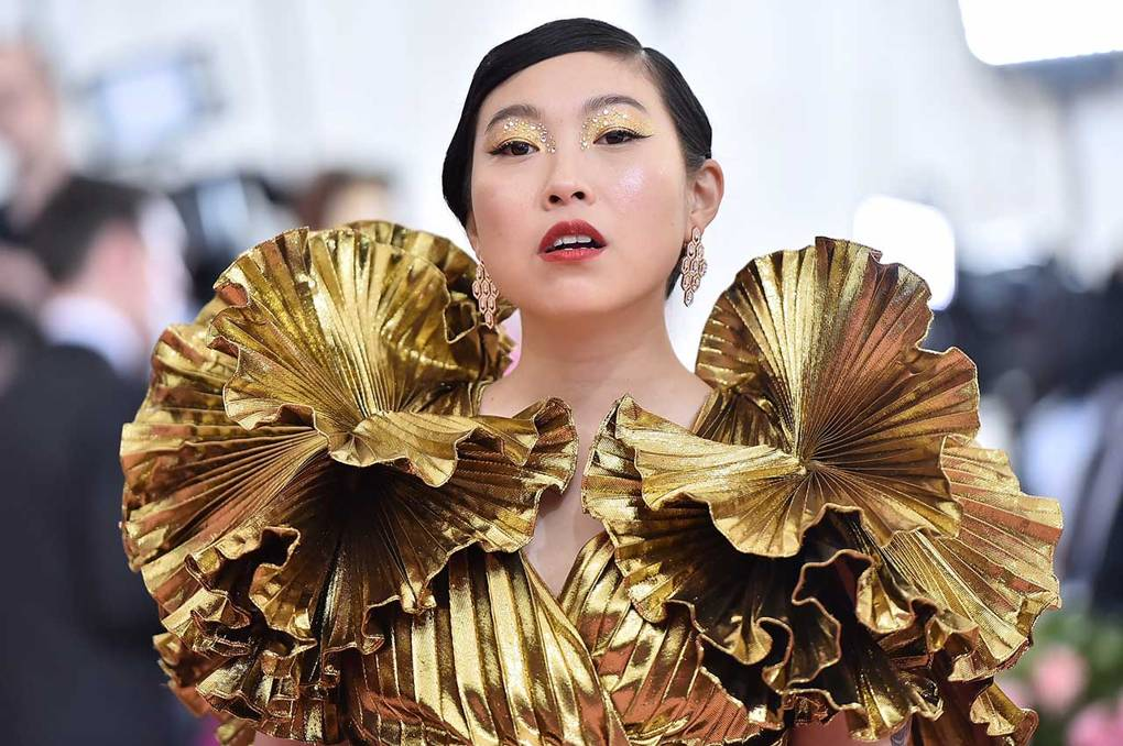 o beauty look de awkwafina na met gala 2019