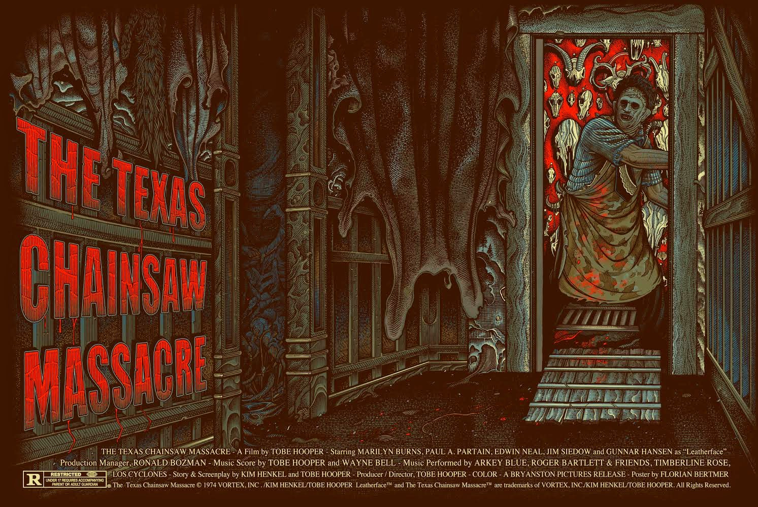 The Texas Chainsaw Massacre Regular Edition Screen Print by Florian Bertmer