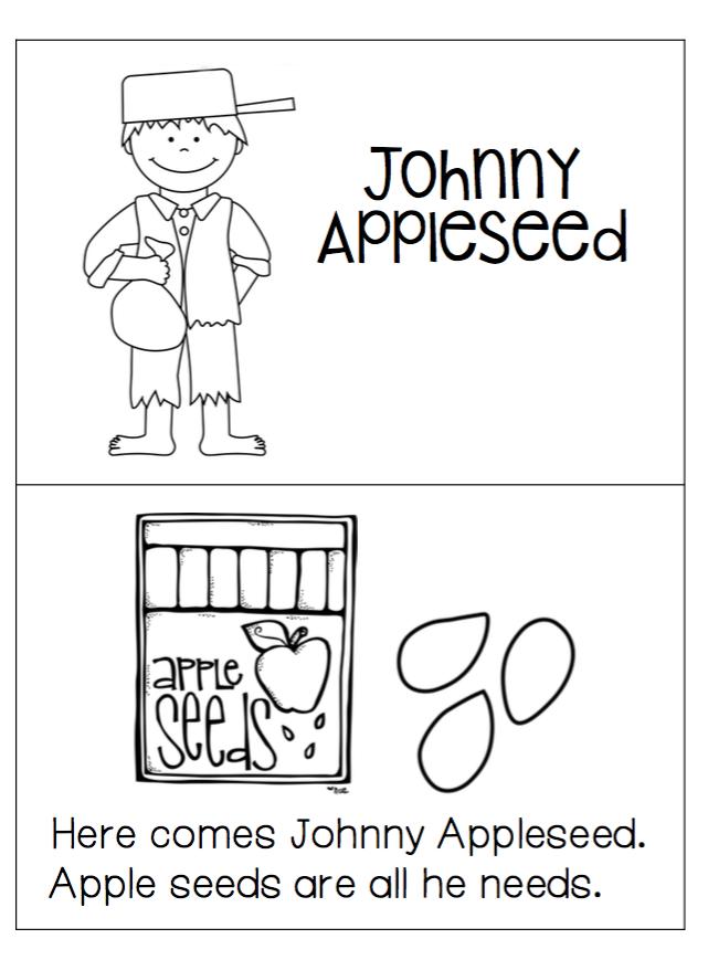 1st Grade Hip Hip Hooray!: Johnny Appleseed freebie mini