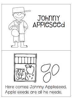 1st Grade Hip Hip Hooray!: Johnny Appleseed freebie mini
