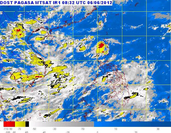 Satellite image from online PAGASA Weather Forecast