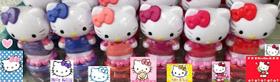 Dollar Tree haul Hello Kitty peelable nail polish super cute topper cat statues toys action figure Sanrio