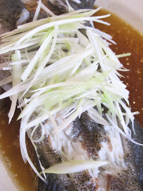 Steamed Lapu-Lapu {Grouper} with Soy Sauce