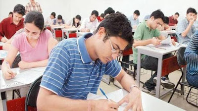 Student visits paper in 12th exam