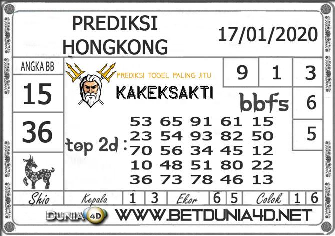 Prediksi Togel HONGKONG DUNIA4D 17 JANUARI 2020