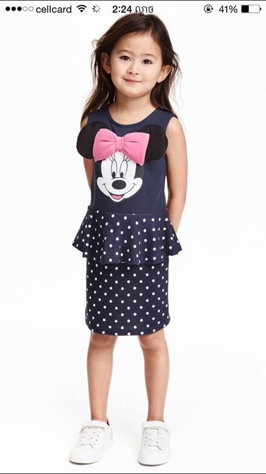 Đầm H&M, hàng xuất made in cambodia.