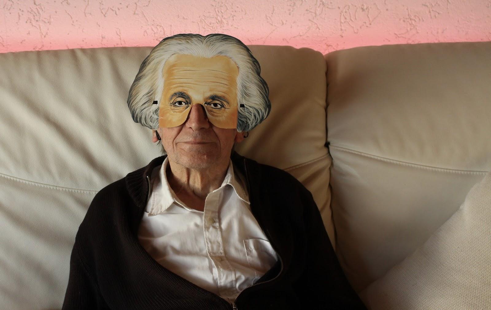 Mein Vater als Einstein an Silvester 2017