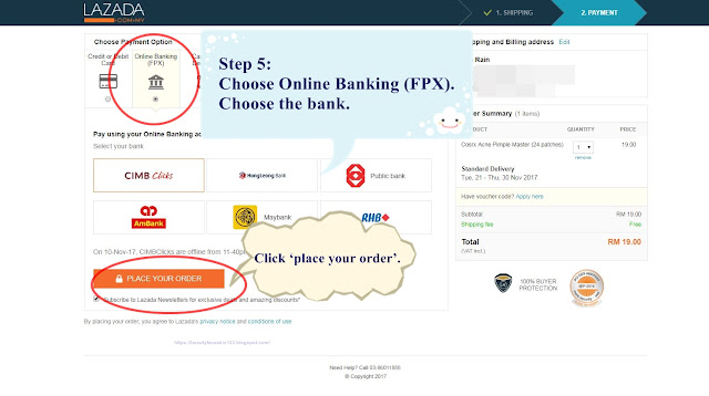 Online Banking (FPX), MOLPay, Lazada