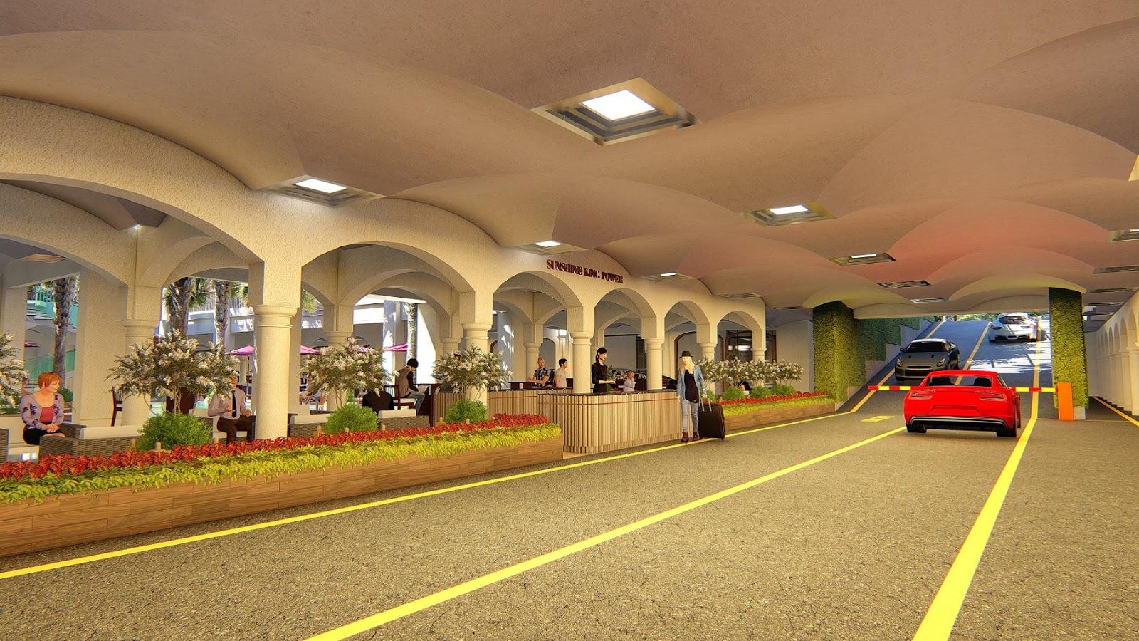 Khu trung tâm thương mại đẳng cấp dưới tầng hầm