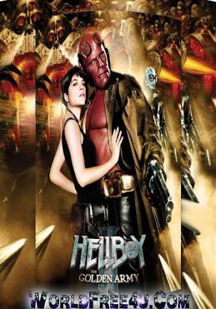 Poster Of Hellboy 2 In Dual Audio Hindi English 300MB Compressed Small Size Pc Movie Free Download Only At worldfree4u.com