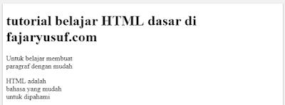 HTML : Paragraf pada HTML