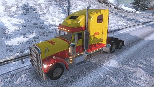DHL skin for Freighliner Classic XL (EviL)
