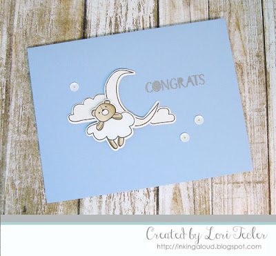 Baby Congrats card-designed by Lori Tecler/Inking Aloud-stamps and dies from WPlus9