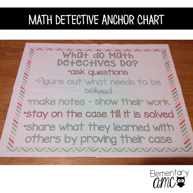 math detective anchor chart