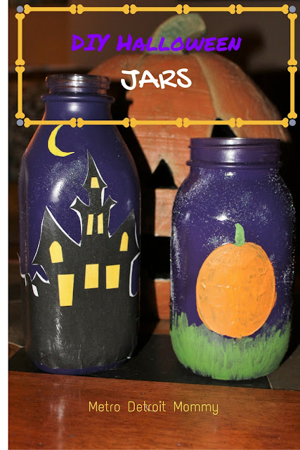 Halloween, DIY, crafts, jars