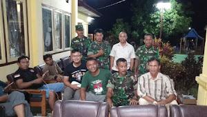 Anggota Koramil 416-05/Muara Tebo Pantau Rapat Pleno di 3 Kecamatan