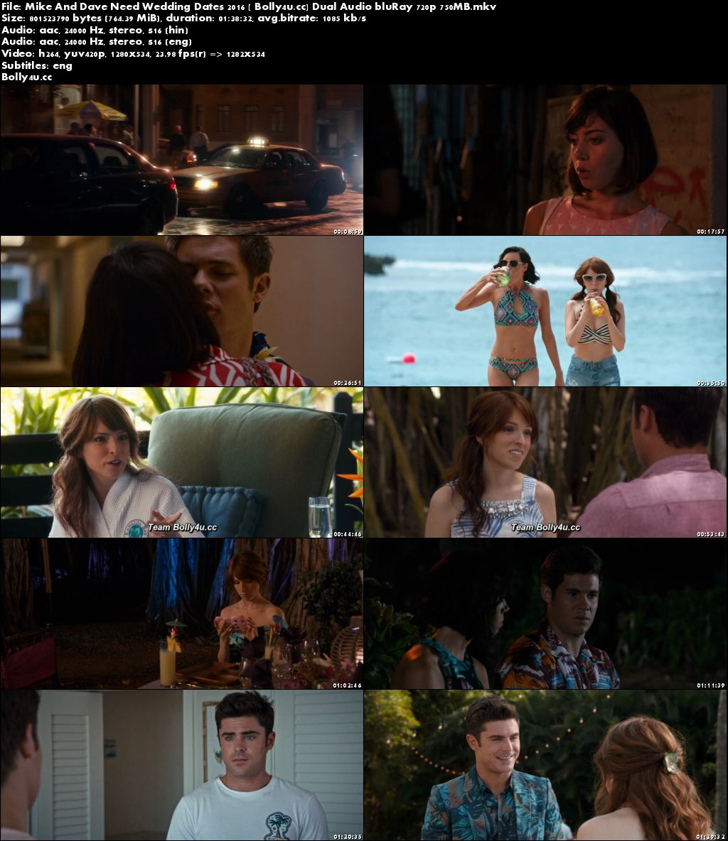 Mike And Dave Need Wedding Dates 2016 BRRip 750MB Hindi Dual Audio 720p Download