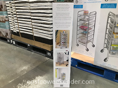 Costco 1237485 - Seville Classics 6-Drawer Rolling Organizer: great for any home