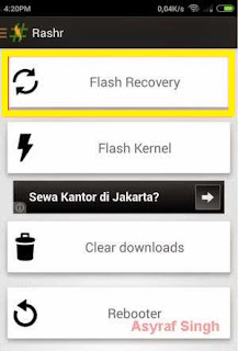 rashr - flash recovery