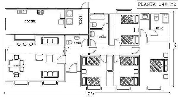 Planos de casas modelos y dise os de casas junio 2012 for Casa moderna 140 m2