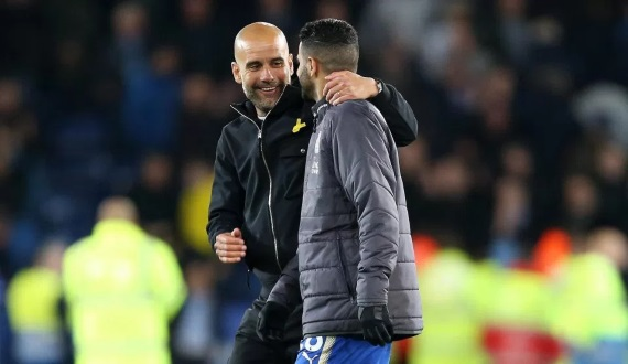 Pep Guardiola has revealed that he may consider going in for Riyad Mahrez again at the end of the season