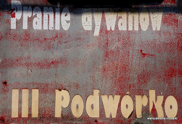 Warszawa szyld szyldy warszawskie retro pranie dywanów