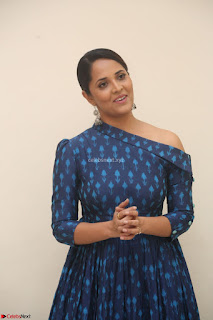 Anchor Anasuya in a Blue Gown at Jai Lava Kusa Trailer Launch ~  Exclusive Celebrities Galleries 021.JPG