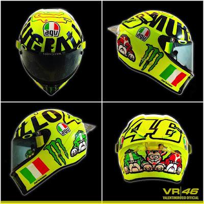 Ini Helm Baru Rossi untuk Seri Mugello 2016